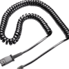 U10P-S Coil Cord to QD Modular Cable