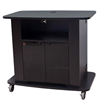 "C2736-42 - Audio Visual Furniture International - 42"" in height, Ideal for education and corporate training. Open shelf and rear access door, TV brackets not included"