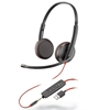 Blackwire C3225 Stereo USB-A Headset w/3.5mm - Europe