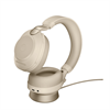Jabra Evolve 2 85 Wireless Headset Link 380a MS Stereo Stand - Colour: Beige