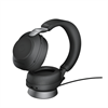 Jabra Evolve 2 85 Wireless Headset Link 380a UC Stereo Stand - Black