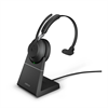 Jabra Evolve 2 65 Wireless Headset Link 380 USB-A MS Mono Stand - Black