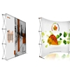 Work From Home (WFH) Fabric Backdrop- Pop Up Fabric Display Backdrop - 10 ft wide x 8 ft height - Curved