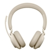 Jabra Evolve2 65 Wireless Headset Link 380, USB-C MS Stereo - Beige