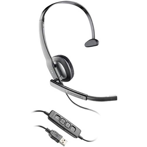 Plantronics Blackwire C210-M Over-The-Head Monaural Noise Canceling USB UC Headset for MOC 2007