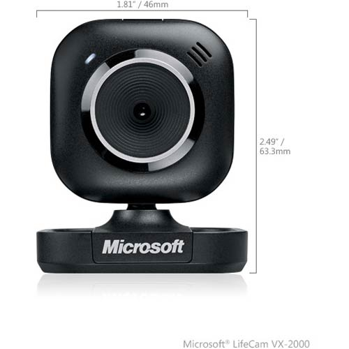 LifeCam VX-2000 - Microsoft - Webcam with VGA video sensor - YFC-00001, life cam, web cam