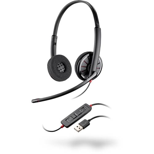 Blackwire C320-M - Plantronics - UC Binaural USB Headset for Microsoft Lync