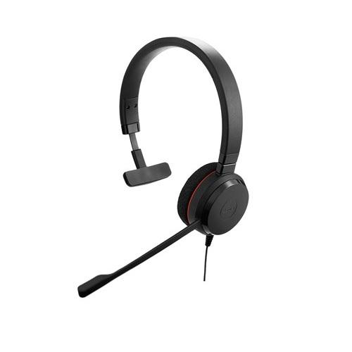 Jabra Evolve 20 Mono Headset - UnifiedCommunications.com - Corded mono headset for VoIP softphone