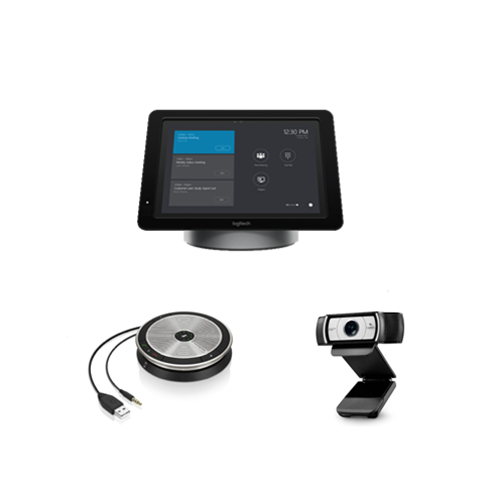 Skype Meeting Room Kit for Small Room - Includes Logitech Smartdock Base, C930e and SP20 Speakerphone