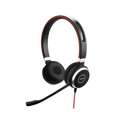 Jabra Evolve 40 Stereo Headset for Lync - Professional mid-range wired office headset. Stay focused in noisy environments with passive noise cancellation.