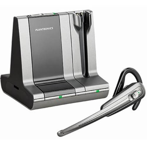 Plantronics WO100 Savi Office Convertible Noise Canceling Wireless UC Headset System - 79956-01