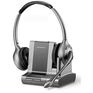 WO350 - Plantronics - Savi Office Over-the-head Binaural Noise-Canceling Wireless Office Headset for Unified Communications - W0350, 81802-01, UC Headset, Unified Communications Headset, W0300, Savi Headset, Savy Headset, Office Headset, Binaural Headset